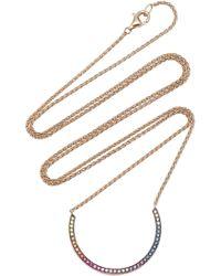 Noor Fares - Rainbow Navratna Chandra 18k Gold And Multi-stone Necklace - Lyst