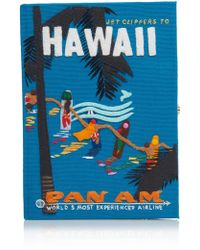 Olympia Le-Tan - Embroidered Hawaii Clutch - Lyst