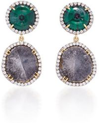Pamela Huizenga - Natural Trapiche Emeralds And Diamonds Earrings - Lyst