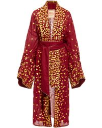 Yuliya Magdych - Guepard Embroidered Cotton Robe - Lyst
