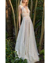 Costarellos Bridal - Flower Lace A-line Dress - Lyst