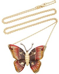 Silvia Furmanovich - Marquetry Butterfly Necklace - Lyst