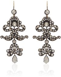 Nina Runsdorf - One-of-a-kind Antique Diamond Earrings - Lyst