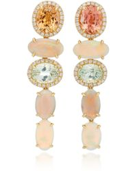 Katherine Jetter - One-of-a-kind Pastel Tourmaline And Opal Drop Earrings - Lyst