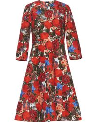 Marni - Floral-print Cotton Dress - Lyst