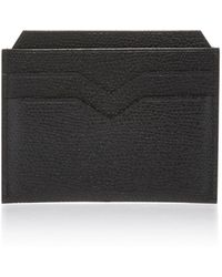 Valextra - Pebbled Leather Cardholder - Lyst