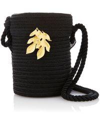 Rebecca de Ravenel - M'o Exclusive Embellished Straw Bag - Lyst
