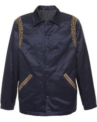 Just Don - Reversible Leopard-print And Cotton-blend Satin Jacket - Lyst