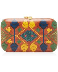 Silvia Furmanovich - Embellished Wood Clutch - Lyst