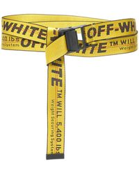 4b7109ead8a8 Lyst - Off-White c o Virgil Abloh Classic Industrial Belt in Yellow ...
