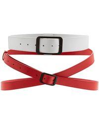 Lanvin - Double Buckle Belt - Lyst
