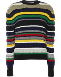 JW Anderson - Multi Colour Stripe Ruched Jumper - Lyst