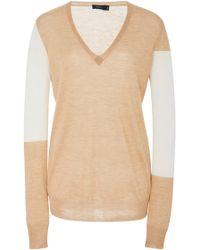 JOSEPH - Two-tone Cashmere Sweater - Lyst