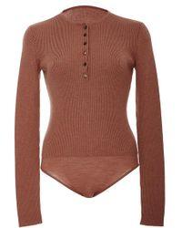 Protagonist - Henley Knit Bodysuit - Lyst
