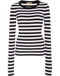 Michael Kors - Striped Jersey Sweater - Lyst