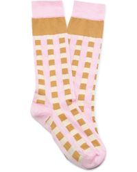 Marni - Checked Silk-blend Socks - Lyst