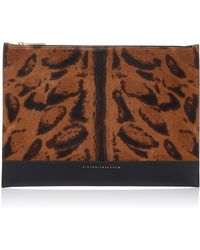 Victoria Beckham - Animal Print Leather Pouch - Lyst