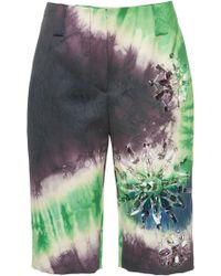 Prada - Tie-dye Satin Bermuda Shorts - Lyst