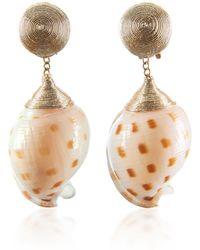 Rebecca de Ravenel - Ophelia Gold Earrings - Lyst