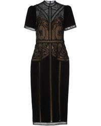 Zuhair Murad - Enkei Embroidered Crepe And Silk Lace Midi Dress - Lyst