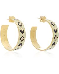 Amrapali - Mosaic 18k Gold And Diamond Hoop Earrings - Lyst