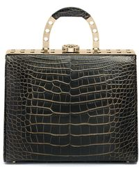 "Bougeotte - Titanium ""best Secret Keeper"" Purse In Black And Gold Crocodile - Lyst"