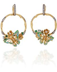 Anabela Chan - M'o Exclusive Aqua Orchard Hoop Earrings - Lyst