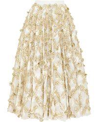 Razan Alazzouni - Embellished Swing Skirt - Lyst