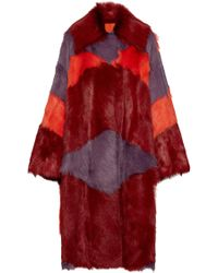 Bottega Veneta - Multicolour Shearling/suede Coat - Lyst