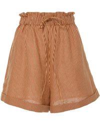Miguelina - Sienna Linen Mini Shorts - Lyst