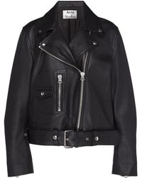 Acne Studios - New Merlyn Belted Leather Motorcycle Jacket - Lyst