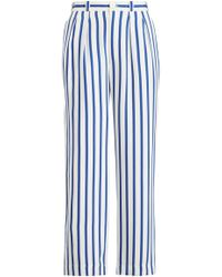Ralph Lauren - Caldwell Striped Silk Pant - Lyst