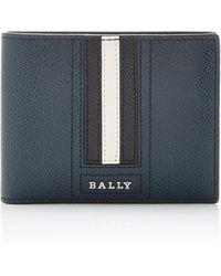 Bally - Stripe Leather Wallet - Lyst