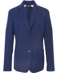 Akris - Wool Double Face Blazer Jacket - Lyst
