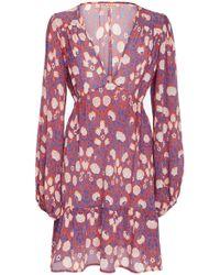 Banjanan - Portia Print Silk Crepe Mini Dress - Lyst