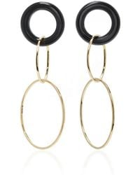 Mateo - 14k Gold And Onyx Earrings - Lyst
