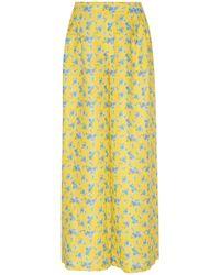 Gül Hürgel - Floral-print Linen Wide-leg Pants - Lyst