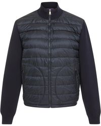 Ralph Lauren - Paneled Quilted-shell And Stretch-wool Jacket - Lyst