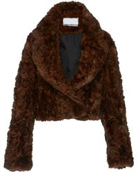 Paco Rabanne - Eco Fur Cropped Jacket - Lyst