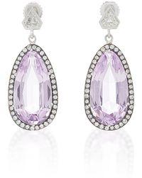 Sylva & Cie - One-of-a-kind Kunzite Earrings - Lyst