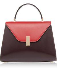 Valextra - Iside Medium Two-tone Leather Shoulder Bag - Lyst