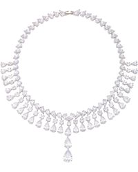 Fallon - Monarch Raindrop Bib Necklace - Lyst
