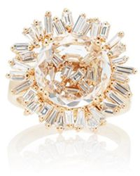 Suzanne Kalan - 18k Yellow Gold White Topaz Vitrine Ring - Lyst