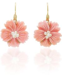 Annette Ferdinandsen - 18k Gold, Pearl And Conch Shell Earrings - Lyst