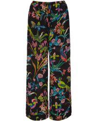 Banjanan - Tommy Floral Silk Crepe Pant - Lyst