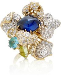 Anabela Chan | M'o Exclusive Sapphire Blossom Ring | Lyst