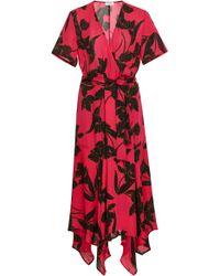 A.L.C. - Cora Wrap Silk Dress - Lyst
