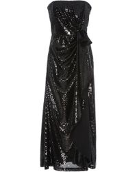 Prabal Gurung - Strapless Gathered Sequined-tulle Dress - Lyst