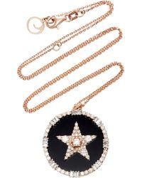 Bee Goddess - Sirius 14k Gold And Diamond Pendant Necklace - Lyst