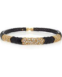 Gioia - Vintage Onda 18k Gold, Stainless Steel And Diamond Choker - Lyst